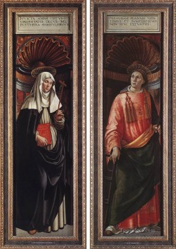 renaissance Painting - St catherine Of Siena And St Lawrence Renaissance Florence Domenico Ghirlandaio