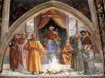 renaissance Painting - Test Of Fire Before The Sultan Renaissance Florence Domenico Ghirlandaio