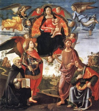 Madonna In Glory With Saints Renaissance Florence Domenico Ghirlandaio Oil Paintings