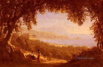 La Rivera Di Ponente Genoa scenery Sanford Robinson Gifford Oil Paintings