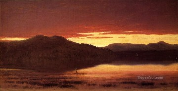 Twilight 1867 scenery Sanford Robinson Gifford Oil Paintings