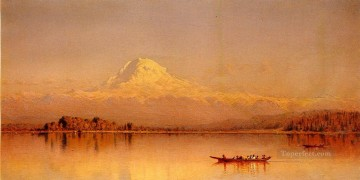 Mount Rainier Bay of Tacoma scenery Sanford Robinson Gifford Oil Paintings