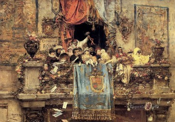 Jose Benlliure y Gil Painting - At The Carnival Jose Benlliure y Gil