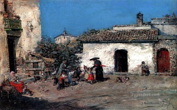 Jose Benlliure y Gil Painting - The Priests Visit Jose Benlliure y Gil