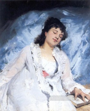 Sweet Repose Victor Gabriel Gilbert Oil Paintings