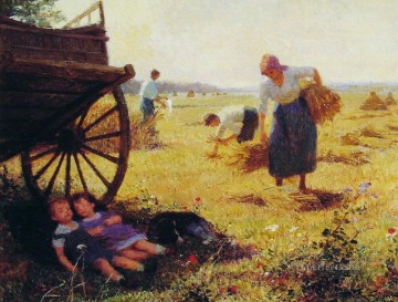 Haymaking genre Victor Gabriel Gilbert Oil Paintings