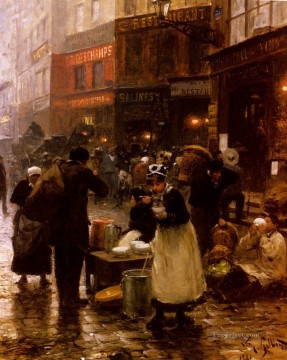 Le Jour De Marche genre Victor Gabriel Gilbert Oil Paintings