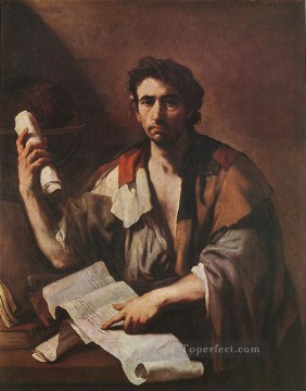 Luca Giordano Painting - A Cynical Philospher Baroque Luca Giordano