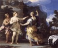 Venus Punishing Psyche With A task Baroque Luca Giordano