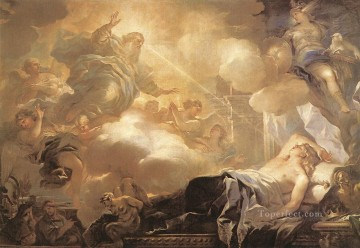 Dream Painting - Dream Of Solomon Baroque Luca Giordano