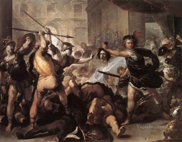 baroque Painting - Perseus Fighting Phineus And His Companions Baroque Luca Giordano