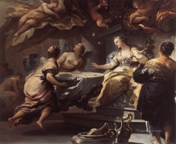 by Works - Psyche Served By Invisible Spirits Baroque Luca Giordano