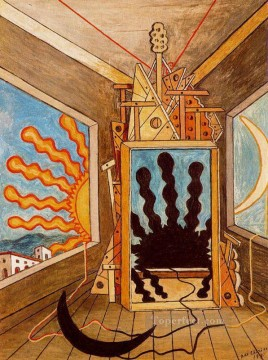 Giorgio de Chirico Painting - metaphysical interior with sun which dies 1971 Giorgio de Chirico Metaphysical surrealism