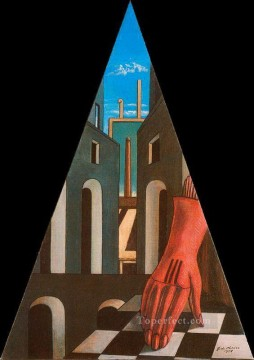 metaphysical triangle 1958 Giorgio de Chirico Metaphysical surrealism Oil Paintings