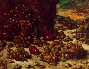 Chirico Art Painting - still life with rocky landscape 1942 Giorgio de Chirico Metaphysical surrealism