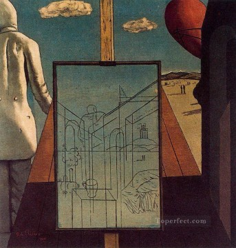 the double dream of spring 1915 Giorgio de Chirico Metaphysical surrealism Oil Paintings