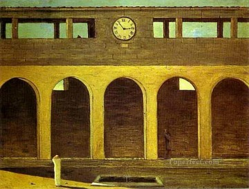 Chirico Art Painting - the enigma of the hour 1911 Giorgio de Chirico Metaphysical surrealism
