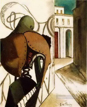 the vexations of the thinker 1915 Giorgio de Chirico Metaphysical surrealism Oil Paintings