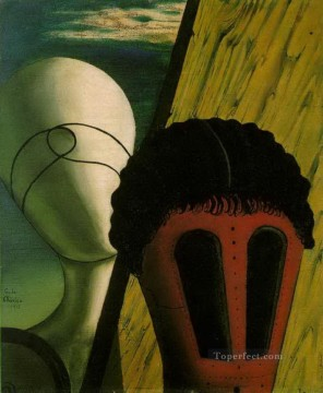 Chirico Art Painting - two heads 1918 Giorgio de Chirico Metaphysical surrealism