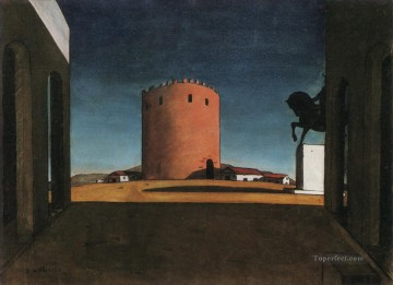 The Red Tower Giorgio de Chirico Metaphysical surrealism Oil Paintings