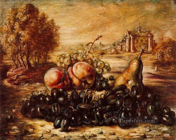 black grape Giorgio de Chirico Metaphysical surrealism Oil Paintings