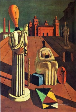 Chirico Art Painting - disturbing muses 1918 Giorgio de Chirico Metaphysical surrealism