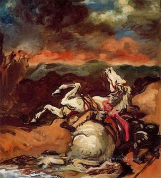 Artworks by 350 Famous Artists Painting - fallen horse Giorgio de Chirico Metaphysical surrealism
