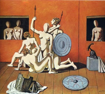 gladiators Giorgio de Chirico Metaphysical surrealism Oil Paintings