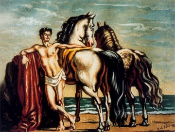 groom with two horses Giorgio de Chirico Metaphysical surrealism Oil Paintings