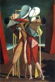 hector and andromache 1912 Giorgio de Chirico Metaphysical surrealism