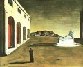 melancholy of a beautiful day 1913 Giorgio de Chirico Metaphysical surrealism