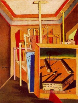Chirico Art Painting - metaphysical interior of studio 1948 Giorgio de Chirico Metaphysical surrealism