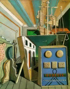 metaphysical interior with biscuits 1916 Giorgio de Chirico Metaphysical surrealism Oil Paintings