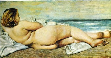 nude woman on the beach 1932 Giorgio de Chirico Metaphysical surrealism Oil Paintings