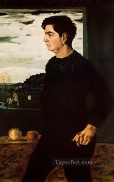 Chirico Art Painting - portrait of andrea brother of the artist 1910 Giorgio de Chirico Metaphysical surrealism