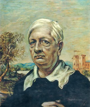 Chirico Art Painting - self portrait 3 Giorgio de Chirico Metaphysical surrealism