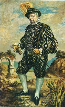 Chirico Art Painting - self portrait in black costume Giorgio de Chirico Metaphysical surrealism