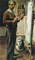 self portrait in the studio 1935 Giorgio de Chirico Metaphysical surrealism