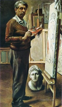 self portrait in the studio 1935 Giorgio de Chirico Metaphysical surrealism Oil Paintings