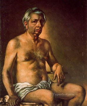 self portrait nude 1945 Giorgio de Chirico Metaphysical surrealism Oil Paintings