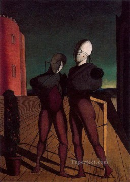 the duo the models of the red tower 1915 Giorgio de Chirico Metaphysical surrealism Oil Paintings