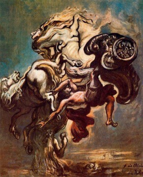 the fall of phaeton Giorgio de Chirico Metaphysical surrealism Oil Paintings