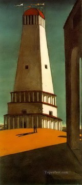 Chirico Art Painting - the nostalgia of the infinite 1913 Giorgio de Chirico Metaphysical surrealism