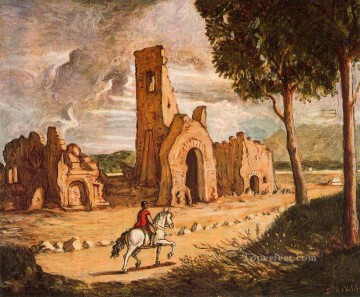 via appia 1954 Giorgio de Chirico Metaphysical surrealism Oil Paintings