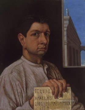 Self portrait Giorgio de Chirico Metaphysical surrealism Oil Paintings