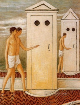 booths Giorgio de Chirico Metaphysical surrealism Oil Paintings