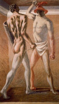 gladiators 1 Giorgio de Chirico Metaphysical surrealism Oil Paintings