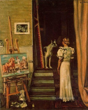 Chirico Art Painting - paris studio of the artist Giorgio de Chirico Metaphysical surrealism