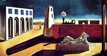 piazza d italia Giorgio de Chirico Metaphysical surrealism Oil Paintings