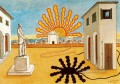 rising sun on the plaza 1976 Giorgio de Chirico Metaphysical surrealism